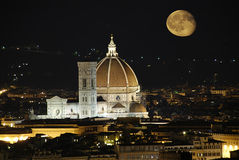 florence katedralna noc Obraz Royalty Free