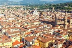 Florence kyrklig crocedetalj florence santa Royaltyfria Bilder