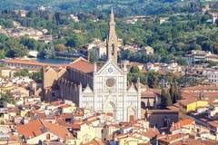 Florence kyrklig crocedetalj florence santa Arkivfoton