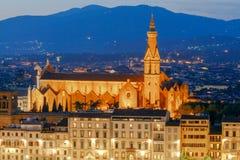 Florence kyrklig crocedetalj florence santa Royaltyfri Fotografi