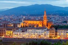 Florence kyrklig crocedetalj florence santa Arkivfoto