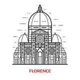 Florence Landmark Vector Illustration illustration stock