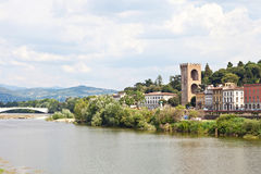 Florence landscape in Arno river Stock Photography