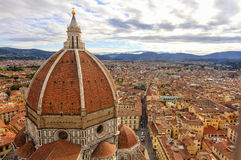 Florence: landscape with Santa Maria del Fiore Dome HDR Stock Photos