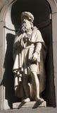 Florence - Leonardo da Vinci statue Stock Images