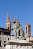 Florence Lion holding a shield with city symbol Royalty Free Stock Photos
