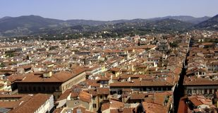 Florence, panoramic view of the city of florence, tuscany, italy royalty free stock image