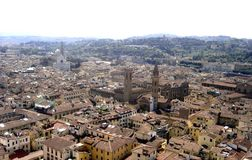 Florence, a magnificent panorama of the city of florence italy stock images