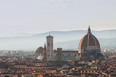 Florence Main Cathedral dome during summer Stock Photography