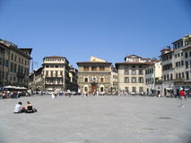 Florence, main plaza. View of Florence, main plaza, italy Stock Image