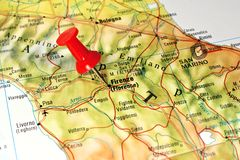 Florence on a map Stock Images