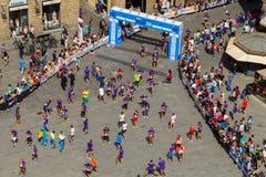 Florence. Marathon. Royalty Free Stock Photos