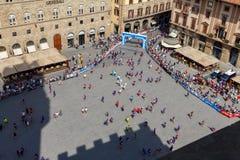 Florence maraton Royaltyfria Foton