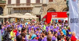 Florence maraton Fotografering för Bildbyråer