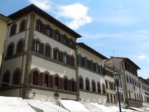 Florence medieval houses Royalty Free Stock Photo
