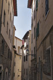 Florence medieval narrow street Stock Images