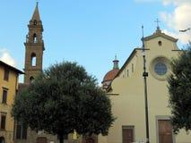 Florence, mening van de Kerk van Santa Spirito royalty-vrije stock foto's