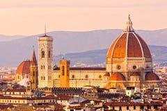 Florence, mening van Duomo en de klokketoren van Giotto, royalty-vrije stock foto