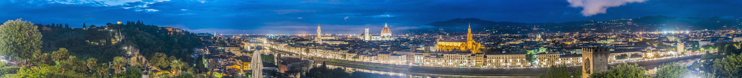 Florence from Michelangelo Square, Tuscany, Italy stock image