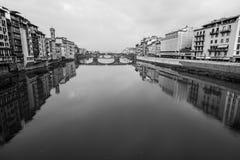 Florence mono river Royalty Free Stock Photo