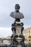 Florence: Monument: Benvenuto Cellini Royalty Free Stock Photos