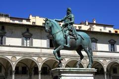 Florence monument of Ferdinand de Medici Stock Images