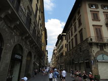 Florence, narrow street in the city centre Royalty Free Stock Images