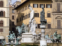 Florence - Neptune fountain Royalty Free Stock Photo
