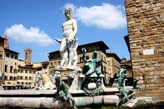 florence neptune staty Royaltyfri Bild