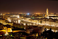 Florence at night Stock Photos