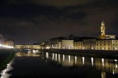 Florence at night Royalty Free Stock Photos