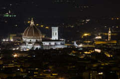 Florence by Night. Florence Dome by night. Shoot from Fiesole Royalty Free Stock Photos