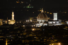 Florence by Night. Florence Dome by night. Shoot from Fiesole Stock Photography