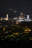 Florence by Night. Florence Dome by night. Shoot from Fiesole Stock Photos