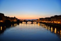 Florence by night, Italy  Royalty Free Stock Photos