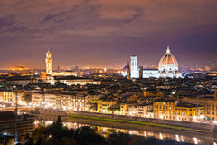 Florence at night, Italy. Royalty Free Stock Photo