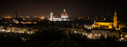 Florence by Night. Landscape from Piazzale Michelangelo Royalty Free Stock Photo