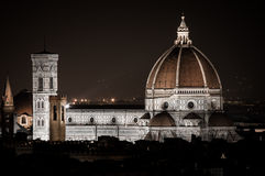 Florence by Night. Landscape from Piazzale Michelangelo Stock Image