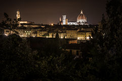Florence by Night. Landscape from Piazzale Michelangelo Stock Photo