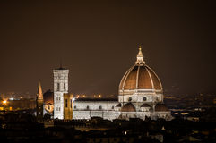 Florence by Night. Landscape from Piazzale Michelangelo Royalty Free Stock Image