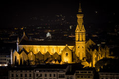Florence by Night. Landscape from Piazzale Michelangelo Royalty Free Stock Photography