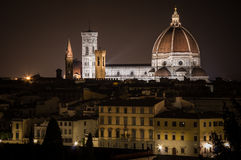 Florence by Night. Landscape from Piazzale Michelangelo Stock Photography