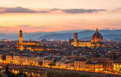 Florence at night Royalty Free Stock Image