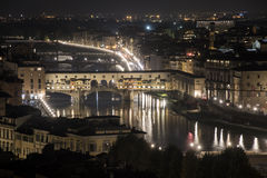 Florence at night Stock Photography