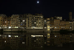 Florence by night on the river Royalty Free Stock Photography