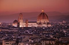 Florence by night Royalty Free Stock Photo
