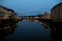 Florence at night, Tuscany, Italy. Bridge in Florence at night, Tuscany, Italy Royalty Free Stock Images
