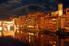 Florence by night - Tuscany - Italy Royalty Free Stock Photos