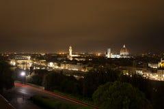 Florence night view Stock Photos