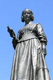 Florence Nightingale statue. Victorian memorial statue of Florence Nightingale 1820-1910 an English nurse known as 'the Lady With The lamp', who cared for Royalty Free Stock Images